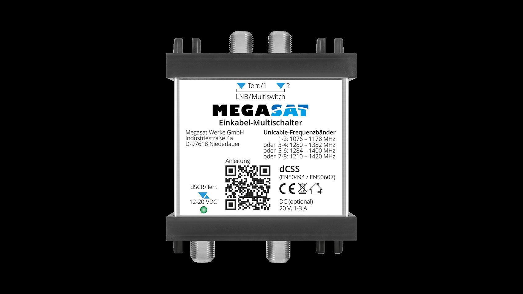 megasat_einkabel_multischalter_frontansicht